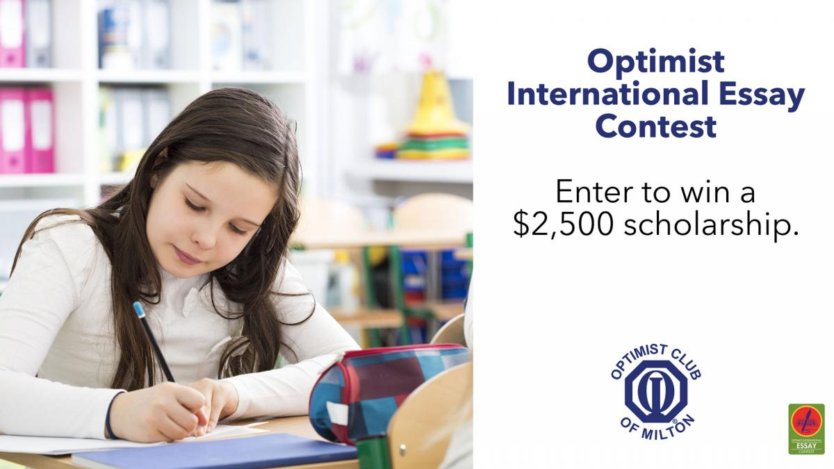 optimist club essay competition An essay may be writtein in either english, french or spanish if the language used is an official language of the country in which the sponsoring club is located the entry must be stapled together in the upper left-hand corner.